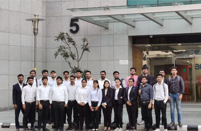 An industrial visit was conducted for the Students of CSE and IT Branch to Altran India Gurugram