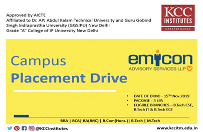 Campus Placement Drive of Emicon Advisory Services