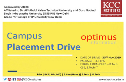 Campus Placement Drive of Optimus infromation