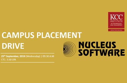 Campus Placement Drive of Nucleus Software