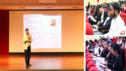 A workshop on Digital marketing and Entrepreneurship was organized at KCCILHE for the students o BCA, BBA, BA(JMC) and B. Com (H)