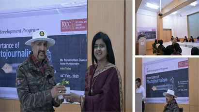 "KCC Institute of Legal and Higher Education Inaugurated its Photography Society ""Shutter bugs"" on 4th feb. 2020"