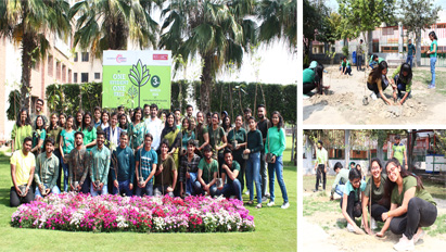 "A Tree Plantation drive- ""One Student One Tree"" was initiated today by the ""Community Connect Society "" of KCC Institute of Legal and Higher Education"