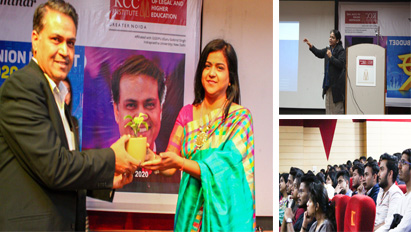 KCCILHE invited CA Pawan Rastogi as a guest speaker for a Seminar on 'Union Budget 2020' for the students of BBA, B.Com (H),BCA, BJMC on 27 Feb. 2020