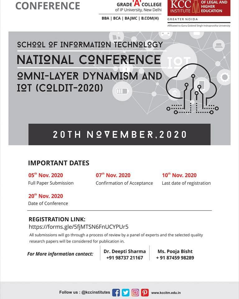 "National Conference ""Omni-Layer Dynamism and IOT (COLDIT-2020)"""
