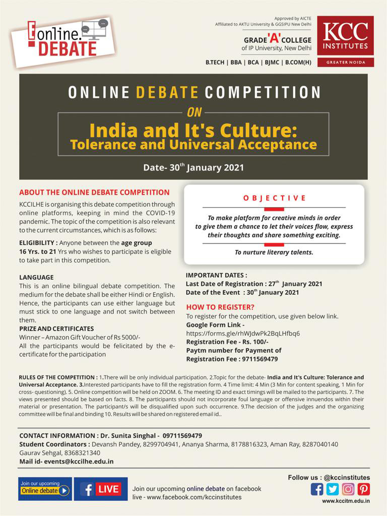 Online Debate Competition