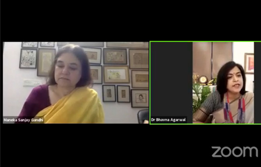 Smt. Maneka Gandhi, Member of Lok Sabha & Founder, Chairperson (PFA) Live at KCC Institutes
