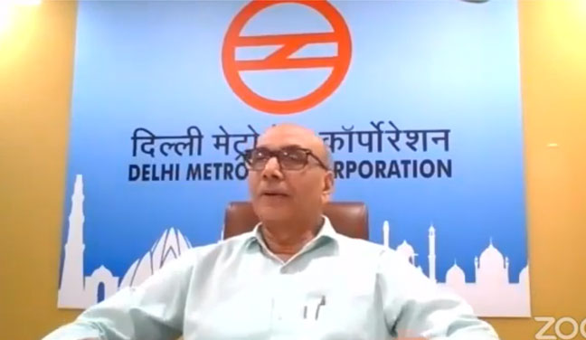Mr. Mangu Singh, MD-DMRC Live for the Webinar Organized by KCC Institutes, Delhi-NCR, Greater Noida.