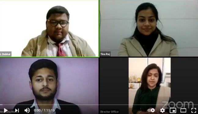 Mr. Durgesh Singh, Writer GULLAK 2 live for the Webinar Organised by KCC Institutes Greater Noida