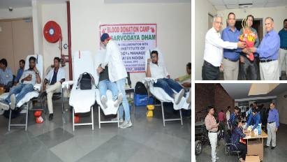 A Blood Donation Camp was organised at KCC Institute